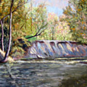 Creek Bank Art Print