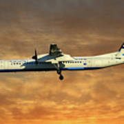 Croatia Airlines Bombardier Dash 8 Q400 Art Print