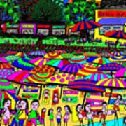 Crowded Beach Art Print