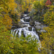 Cullasaja Falls In Autumn Art Print