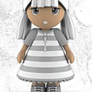 Cute Little 3d Girl Art Print