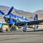 Czech Mate Engine Start Sunday Afternoon Gold Unlimited Reno Air Races Art Print