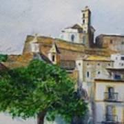 D Alt Vila Ibiza Old Town Art Print