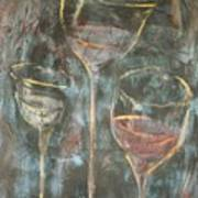 Dancing Glasses Art Print