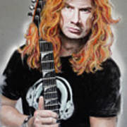Dave Mustaine Art Print