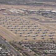 Davis-monthan Air Force Base Airplane Art Print