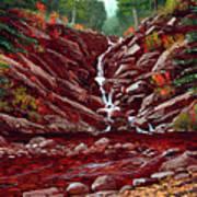 Deepwoods Cascade Art Print
