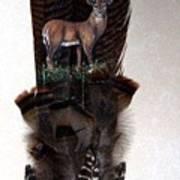 Deer Feather Art Print