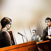 Defence Attorney Dirk Derstine At The Tori Stafford Murder Trial In London Art Print