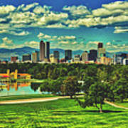 Denver City Park Art Print