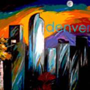 Denver Skyline Art Print