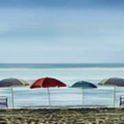 Deserted Beach. Art Print