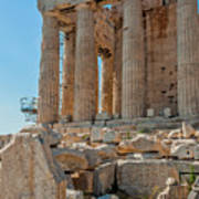 Detail Of The Acropolis Of Athens, Greece Art Print