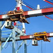 Detail View Of Container Loading Cranes Art Print