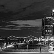 Detroit River Walk Panorama Art Print