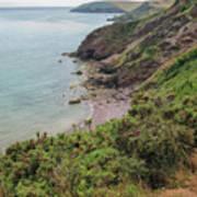 Devon Coastal View Art Print