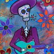 Dia De Los Muertos Mariachi Art Print