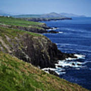 Dingle Coastline Near Fahan Ireland Art Print