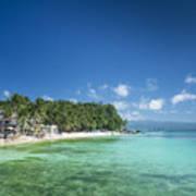 Diniwid Beach In Tropical Paradise Boracay Philippines Art Print