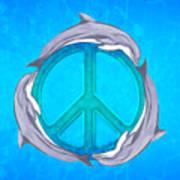 Dolphin Peace Art Print