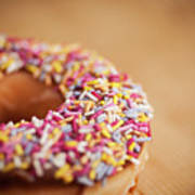 Donut And Sprinkles Art Print