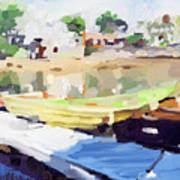 Dories At Beacon Marine Basin Art Print