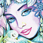 Dove Fairy Art Print
