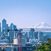 Downtown Cityscape View Of Seattle Washington Art Print