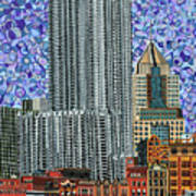 Downtown Pittsburgh - View From Smithfield Street Bridge Art Print