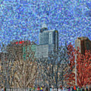 Downtown Raleigh - View From Chavis Park Art Print