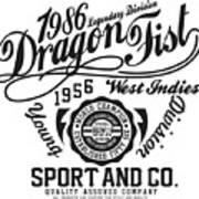 Dragon Fist 1986 Art Print