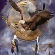 Dream Catcher - Spirit Eagle 2 Art Print