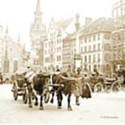 Dresden, Altmarkt Square, Germany, 1903 Art Print
