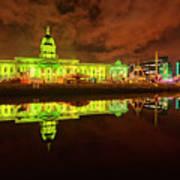 Dublin's Custom House In Green Art Print