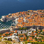 Dubrovnik Old Town From Above Art Print