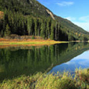 Duffey Lake Reflection In Autumn Art Print