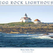 Egg Rock Island Lighthouse Art Print