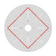 Ehrenstein Illusion Art Print