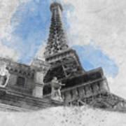 Eiffel Tower Of Paris Art Print