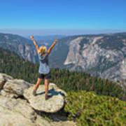 Enjoying At Yosemite Summit Art Print