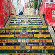 Escadaria Selaron In Rio De Janeiro Art Print