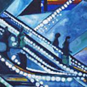 Escalator Lights Art Print
