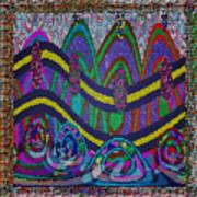 Ethnic Wedding Decorations Abstract Usring Fabrics Ribbons Graphic Elements Art Print