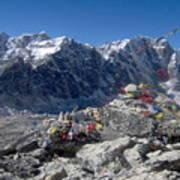 Everest Prayer Flags Art Print