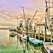 Everett Seafood Art Print