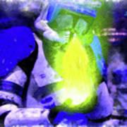 Execute Order 66 Blue Team Commander - Cartoonized Style Art Print
