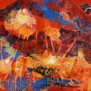 Explosions Of Light Art Print