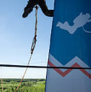 Extreme Sports Ropejumping Art Print