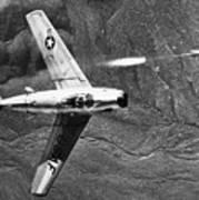 F-86 Jet Fighter Plane Print by Granger