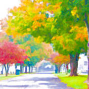 Fall In Holly Hill Art Print